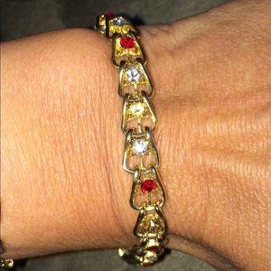 Jewelry - Awesome Ruby and CZ Bracelet